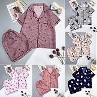 Bộ Đồ Ngủ Mặc Nhà Bộ Pijama Lụa Cao Cấp Hình Trái Tim 4 Màu HOTTREND Hè CC009 thumbnail