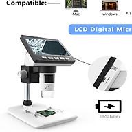 Kính hiển vi chuyên dụng phóng đại 50-1000x để bàn cao cấp ( Tặng bộ dán trang trí dạ quang phát sáng ) thumbnail