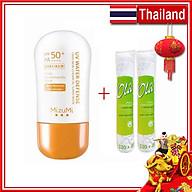 Combo Kem Chống Nắng MizuMi Không Thấm Nước SPF50+ PA++++ 30g Thái Lan Cho Hoạt Động Ngoài Trời + 2 Bông tẩy trang Ola 120+30 miếng Ba Lan thumbnail