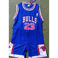 Bộ quần áo bóng rổ trẻ em xanh dương thumbnail