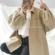 Áo khoác Jacket Kaki Rộng Nữ thumbnail