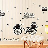 Decal dán tường xe đạp và cột đèn đen sk9264 thumbnail