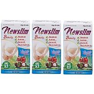 Bộ 3 hộp viên uống giảm cân giảm béo chiết xuất lá sen Newslim Beauty Học viện quân y Việt nam ( 30 viên hộp)- HÀNG CHÍNH HÃNG thumbnail