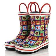 Ủng đi mưa họa tiết sắc màu giúp bé đi trời mưa, thăm vườn rau,giúp bảo vệ đôi chân bé tránh những vật sắt nhọn SB021 thumbnail