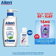 Sữa tắm Sạch khuẩn Aiken Chiết Xuất Trà Xanh Thiên Nhiên 350g - Tặng Gel rửa tay 60ml thumbnail