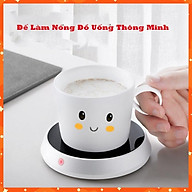 Đế Làm Nóng Đồ Uống Đa Năng Dùng Ở Văn Phòng, Phòng Khách - Hâm Nóng Sữa Cho Trẻ, Hâm Nóng Trà, Cà Phê thumbnail
