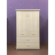 Tủ nhựa 2 cánh 4 ngăn kéo màu vân gỗ sồi (cao 1m35 x rộng 85cm x sâu 45m) thumbnail