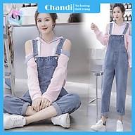 Yếm Jean Nữ Thương Hiệu Chandi, Yếm Nữ Quần cao cấp mẫu mới hot trend 2021 mã NT337 thumbnail