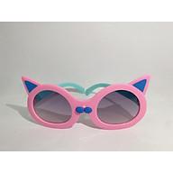 Kính mát cao cấp chống tia UV dành cho bé ga i từ 1 tới 6 tuô i hình mèo siêu dễ thương Jun Secrect BD61011 thumbnail