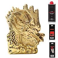 Hộp Qụet Bật Lửa Xăng Bấc Đá Z-KJ1012 Họa Tiết Đầu Rồng Đẹp Độc Lạ + Tặng Xăng Bấc Đá Chuyên Dụng Dùng Cho Bật Lửa thumbnail