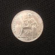 Đồng xu 10 cent hoa xòe Đông Dương 1900 lưu niệm thumbnail