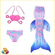 Đồ bơi bikini quần áo tắm nàng tiên cá cho bé gái đi biển CHƯA kèm chân vịt nhựa E83 thumbnail