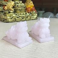 Cặp Tỳ Hưu phong thủy đá Onyx hồng tự nhiên 8cm thumbnail