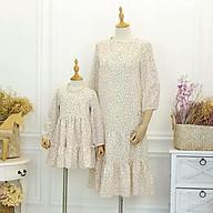 Váy đôi chấm bi trắng đen mẹ và bé dạo phố dự tiệc thumbnail