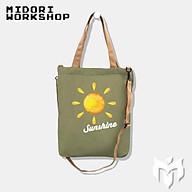 Túi đeo chéo 2 in 1 canvas thời trang - Midori thumbnail