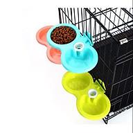Bát ăn đôi gắn chuông có cấp nước dành cho thú cưng thumbnail