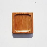 Combo 6 đế đặt chén tre vuông lõm vuông thumbnail
