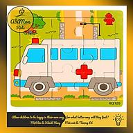 Tranh Ghép Hình Gỗ 9 Miếng Cho Bé Montessori cao cấp Đồ chơi Gỗ - Giáo dục - An toàn - Thông minh thumbnail