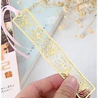 Bookmark kim loại đánh dấu trang sách hình thanh dài họa tiết ngẫu nhiên thumbnail