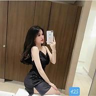 Váy Nữ-Đầm Dự Tiệc Hai Dây Hở Lưng (Chất Liệu Nhung Có mút ngực) Gợi Cảm Dành Cho Nữ thumbnail