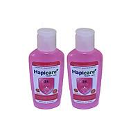 Combo 2 chai gel rửa tay khô Hapicare Dâu 60ml thumbnail