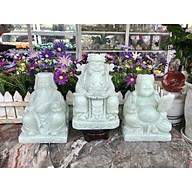 Bộ combo ông Thần Tài Thổ Địa và ông Thần Tài kim tiền phong thủy chiêu nạp tài lộc đá cẩm thạch trắng xanh - Cao 15 cm thumbnail