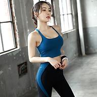Bộ Quần Áo Tập Yoga Gym Nữ Cao Cấp, Form Chuẩn Tôn Dáng, Áo Croptop Có Mút - LUX24 thumbnail