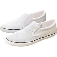 Giày Lười Vải Nữ Cox Shoes 1001 - White thumbnail