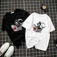Áo thun Nam Nữ Không cổ THẦN CHẾT CÁ MẬP CIMT-0029 mẫu mới cực đẹp, có size bé cho trẻ em áo thun Anime Manga Unisex Nam Nữ, áo phông thiết kế cổ tròn basic cộc tay thoáng mát thumbnail