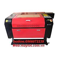 Máy cắt khắc laser model YH-7050 khắc các vật liệu phi kim như da, vải, pha lê, thủy tinh hữu cơ, ngọc, gỗ, giấy, cao su thumbnail