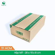 M7 - 25x15x8 cm - 60 Thùng hộp carton + Tặng 25 decal HÀNG DỄ VỠ thumbnail