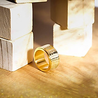 Nhẫn Bát Nhã Tâm Kinh Khắc Chữ Phạn - Kim Tiền Jewelry - Không Đen - Không Phai Màu thumbnail