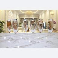 Bộ ly Champagne pha lê Tiệp cao cấp BOHEMIA 1019, dung tích 220 ml - Hàng chính hãng thumbnail