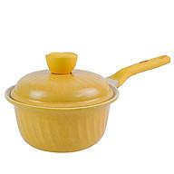 Quánh kháng khuẩn 7 lớp phủ TITANIUM Happy Home Pro chất lượng Hàn Quốc màu vàng size 18cm thumbnail