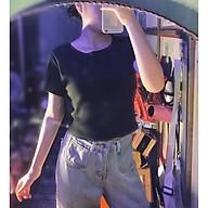 Áo croptop tập gym nữ thun co dãn 4 chiều, Áo thun thể thao nữ cộc tay thumbnail