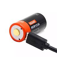 01 Pin Sạc RCR123A (16340) 3.7V 650mAh Công Nghệ Li-on Sạc Cổng Micro USB thumbnail