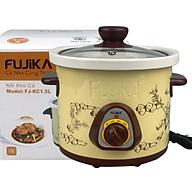 Nồi Kho Cá Thịt,Nấu Chậm,Nấu Cháo ,Chưng Yến 1.5L Fujika KC15 Màu Vàng-Hàng chính hãng thumbnail