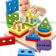 Bảng thả khối hình vuông- Đồ chơi bằng gỗ thumbnail