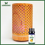 Combo máy khuếch tán máy xông tinh dầu Lorganic hình Trụ Lưới FX2065 + tinh dầu cam hương Lorganic (10ml) thumbnail