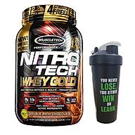 Combo Sữa tăng cơ Nitro Tech 100% Whey Gold của Muscle tech hương socola hộp 31 lần dùng & Bình lắc 600 ml (Mẫu Ngẫu Nhiên) thumbnail