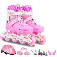 Giày patin trẻ em thời trang có đèn led - Đầy đủ bảo hộ và phụ kiện thumbnail