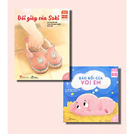 Combo 02 cuốn Ehon Nuôi Dưỡng Tâm Hồn - Bảo Bối Của Voi Em + Đôi Giày Của Saki thumbnail