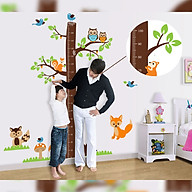Decal dán tường trang trí phòng cho bé , lớp mầm non- Thước đo sóc đáng yêu, tinh nghịch- mã sp DAY221 thumbnail