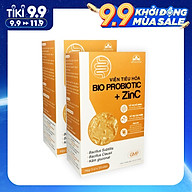 Combo 2 Hộp Thực phẩm bảo vệ sức khỏe viên tiêu hóaBio Probiotic + ZinC, Bổ sung lợi khuẩn và kẽm Bio Probiotic + ZinC, Cải thiện vi khuẩn đường ruột Bio Probiotic + ZinC Hộp 30 viên thumbnail