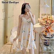Đầm mặc nhà 2 dây họa tiết xinh thời trang trẻ VN01 thumbnail