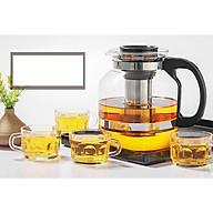 Bộ Bình và ly pha trà có lõi lọc inox thumbnail