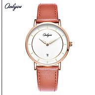Đồng hồ Onlyou Nữ 81182LA Dây da 32mm thumbnail