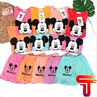 Đồ bộ bé gái tay ngắn mặc nhà MICKEY đồ bộ trẻ em mùa hè cho bé gái cộc tay thun cotton Tanosa Kids-Đồ bộ bé gái tay ngắn mặc nhà MICKEY 9-22kg 2021 thumbnail