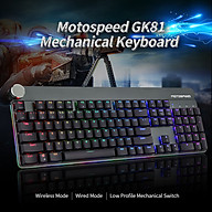 Motospeed GK81 Mechanical Keyboard Wired & 2.4G Dual Mode Backlight Low Profile RGB Switch Keyboard 104 Keys N Key thumbnail
