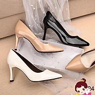 Giày cao gót 5 phân mũi nhọn Anna gthời trang công sở phối gót mảnh _A026GL thumbnail